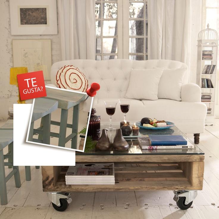 Pisos de madrea y mesa de centro de pallets, ¿Te gusta? Participa por uno http://eres.ripley.cl/