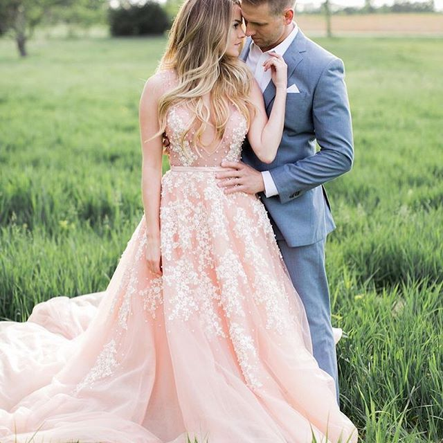In honor of a new season of The Bachelorette that airs tonight (Eeek ) @nikki_ferrell winner of The Bachelor Season 18 with Juan Pablo (Yuck, right?) recently found new love with a college sweetheart and well her engagement photos are jaw dropping!  Who's looking forward to JoJo's season!?  : @alealovelyphoto   Dress by:  Marlo Ford #WedPics #weddingapp #thebachelorette #bachelorette #engagementphotos