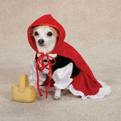 Small Dog Costume Little Red Riding Hood Dress | eBay