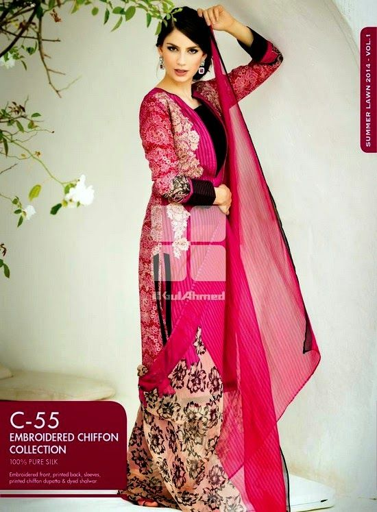 Gul Ahmed Fancy Collection for Eid 2014-2015
