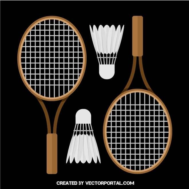 Badminton equipment vector image.