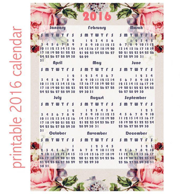 Print out calendar, Calendar for 2016 and Desktop calendars on ...