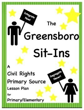 Free! - Elementary Primary Source Lesson Plan - The Greensboro Sit-Ins - Great for Social Studies unit on Black History, the Civil Rights Movement, or Martin Luther King, Jr.
