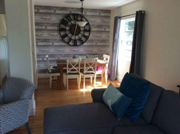 с 13 малобюджетных способов, чтобы украсить вашу гостиную стены, зеленый, сантехнику, наклеить на деревянные текстурированные стены бумаги