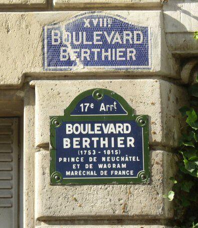 Le boulevard Berthier  (Paris 17ème)