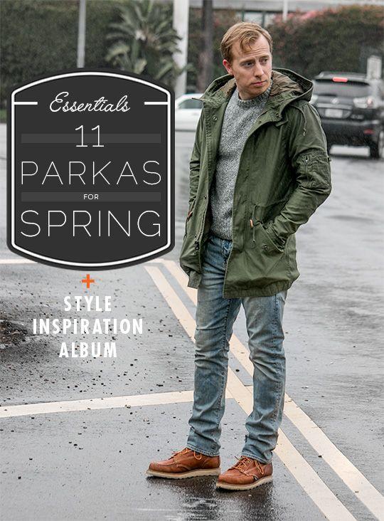 Men's Spring Parka Style Inspiration