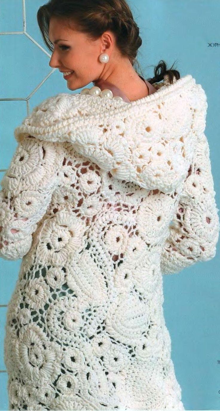 large motif irish crochet | Crochet dresses