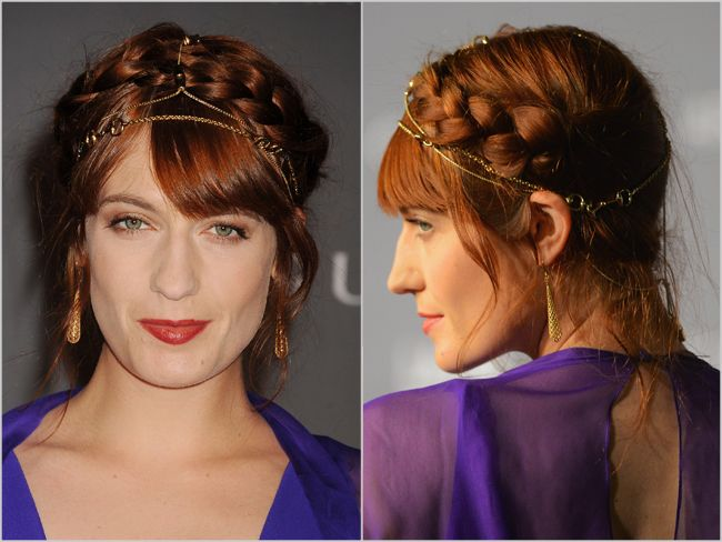 Would You Wear It? Florence Welch's Heidi Braid and Chain Necklace Look - Daily Makeover