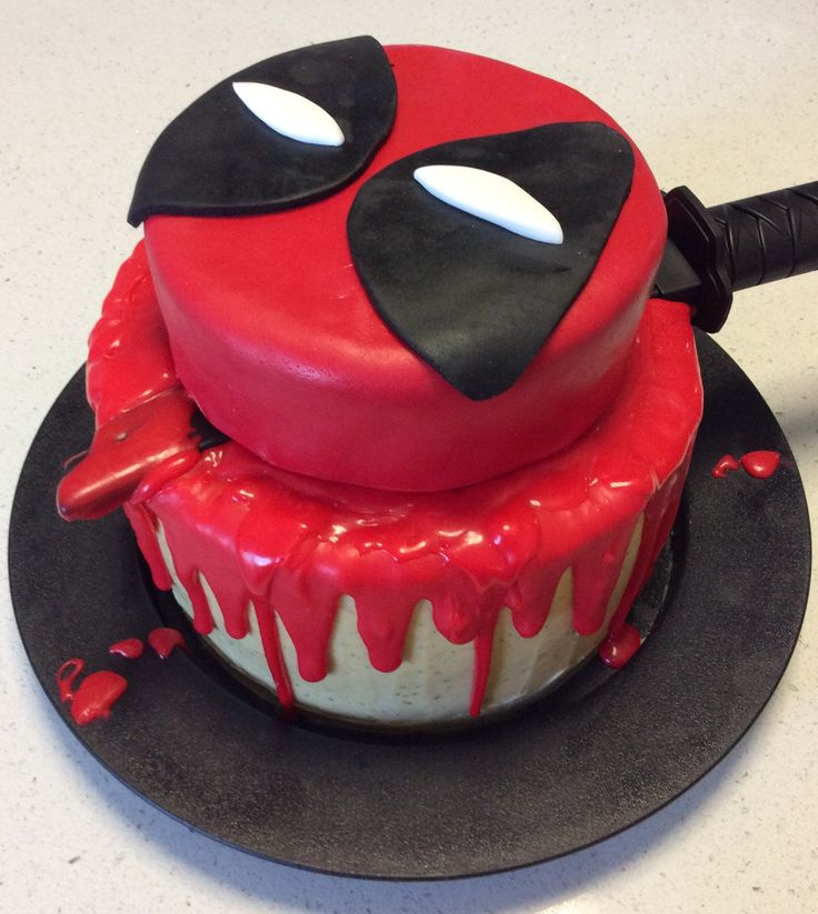 Deadpool cake for Geoff's 33rd birthday.                                                                                                                                                      More