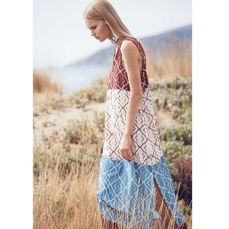 Lesedi printed dress