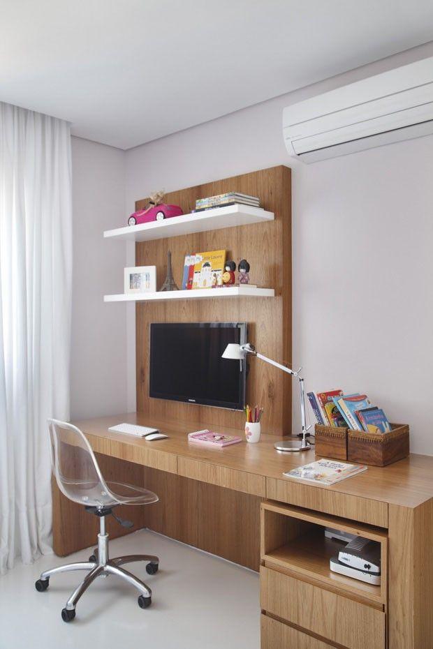 Home Office. Movel TV para quarto. prateleira Achados de Decoração