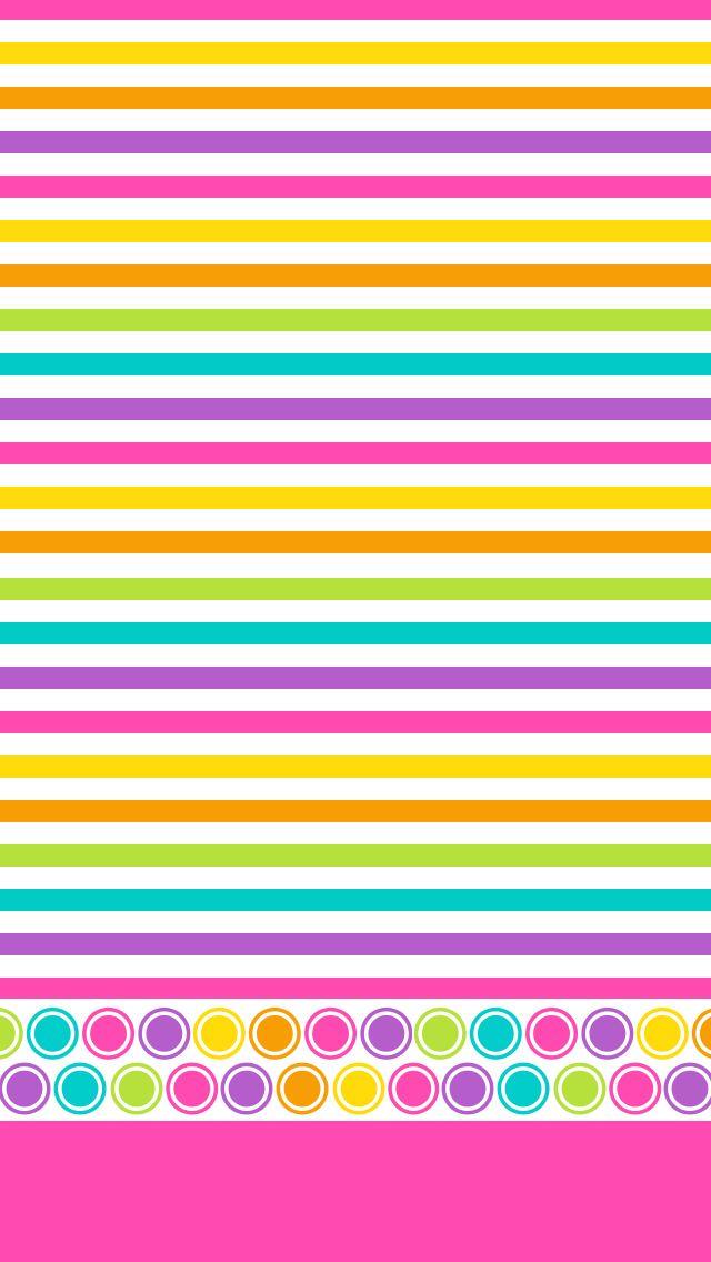 multi colored stripes & dots