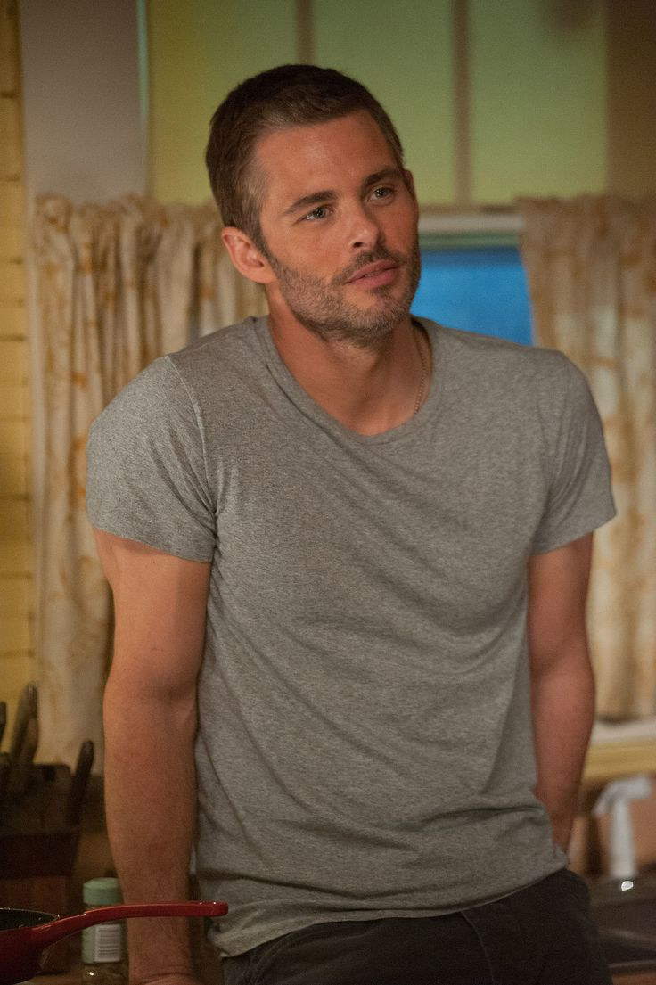 The Best of Me is a good movie!  James has a bit of salt and pepper in his hair and still super hot!