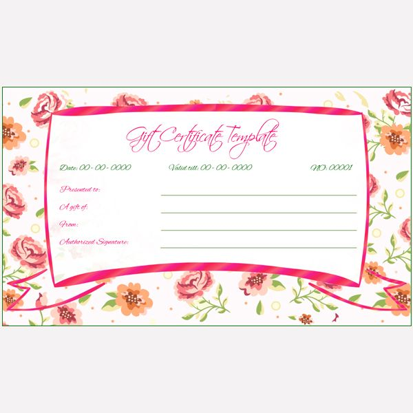 Best Gift Certificate Templates Images On   Gift