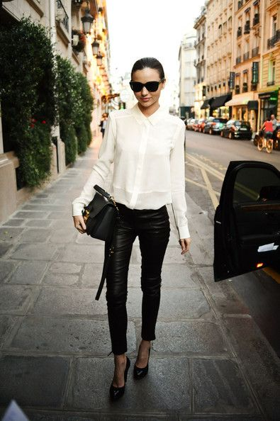 Miranda Kerr Poses in Paris