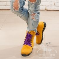 Valentyna Kostetska. Boots. Slips. Shoes. Wool. Felting. Тапочки шерсть валяние войлок вовна Зимові чоботи kostetska.com