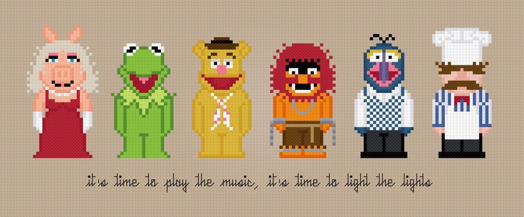 The Muppet Show Characters - Cross Stitch PDF Pattern Download. $6.00, via Etsy.