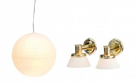 Smaland 2015 Lamp Set 3 Ceiling n 2 Wall Lamps by Lundby