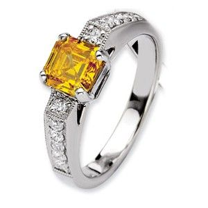14kw Emma Grace Asscher Cultured Diamond Ring - SalmaJewelry.com  $9,939.88