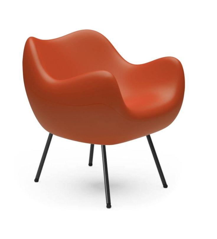 Fotel RM58 Mat VZÓR - pomarańczowy - Pufa Design