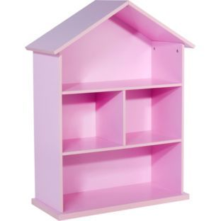 Buy Mia Dolls House Bookcase - Pink at Argos.co.uk - Your Online Shop for Bookcases and shelving units, Children's toy boxes and storage #ArgosRoomInspiration