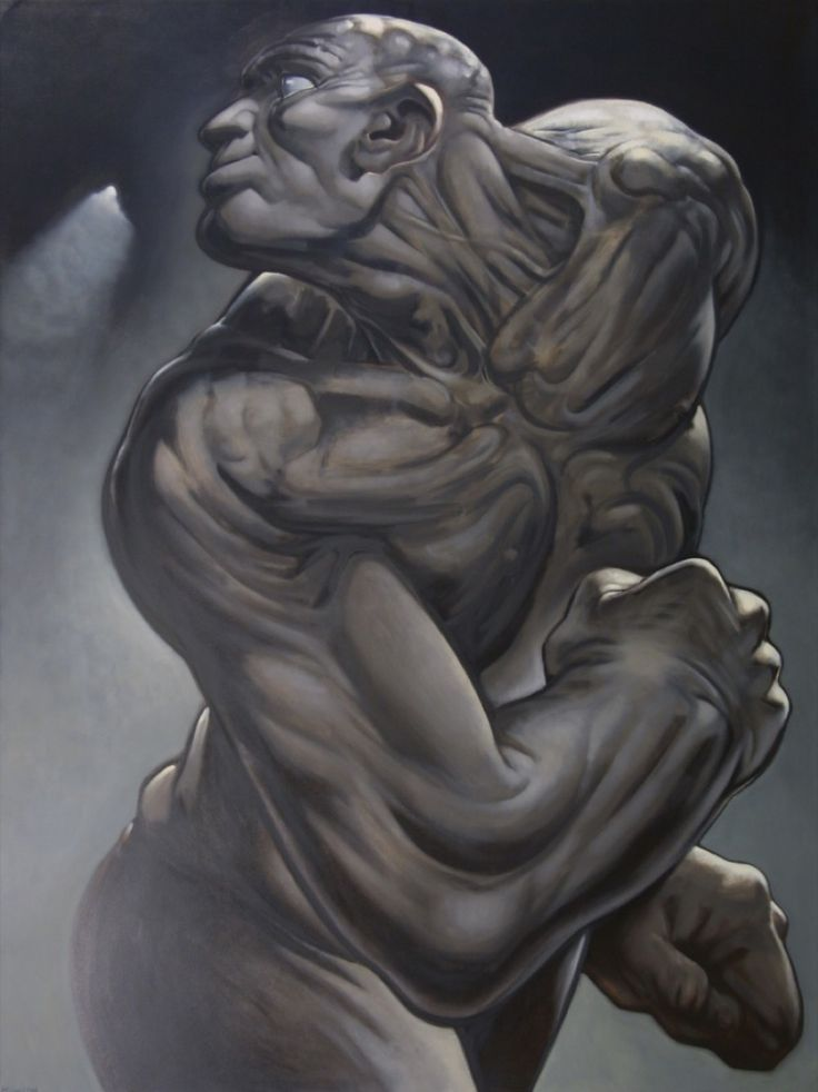 'Tiras' by Peter Howson, 1997, oil on canvas, 244x183cm
