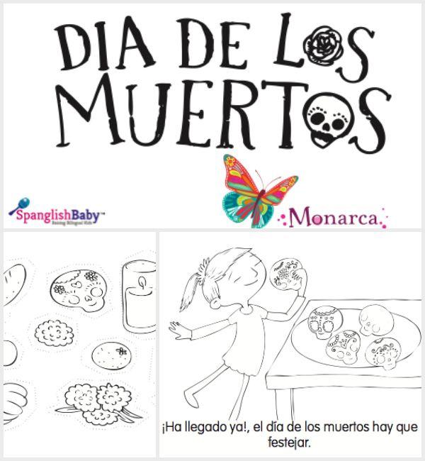 A free coloring book for Dia de los Muertos #printables #DayoftheDead