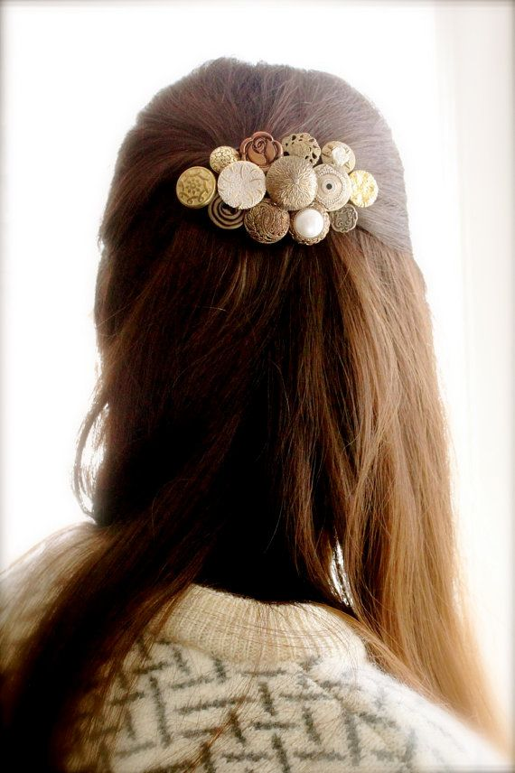 Hey, I found this really awesome Etsy listing at https://www.etsy.com/listing/163451331/hairpiece-hand-sewn-vintage-button