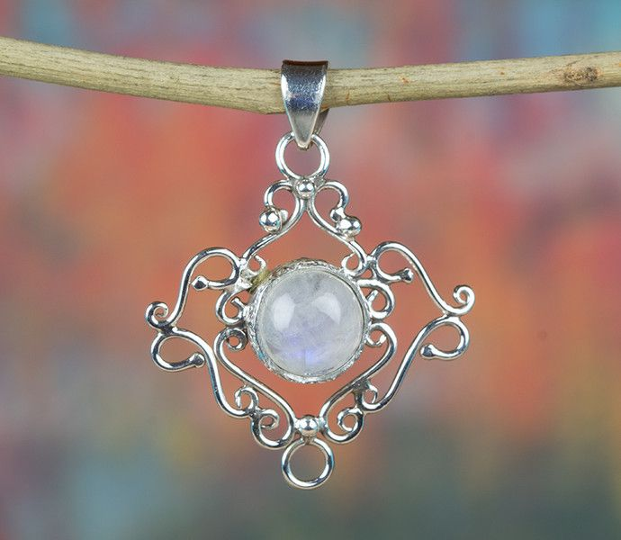 Pendants – Moonstone Pendant, 925 Sterling Silver Pendant – a unique product by Midas-Jewelry on DaWanda