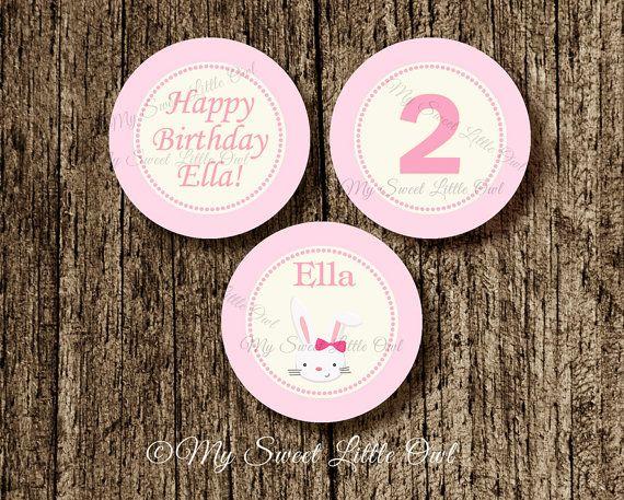 Coniglietto cupcake topper - tag di coniglietto adesivo - etichetta Bunny - coniglio - coniglietto Baby doccia - festa di compleanno di coniglio - coniglietto stampabile. etichetta RABIT