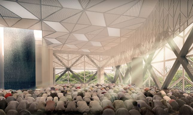 Al ansar mosque design by farm in partnership with kd - Interior design schools in alabama ...