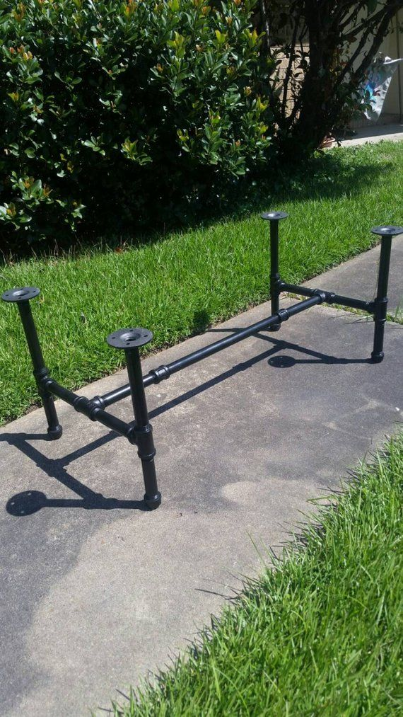 """Industrial Pipe Leg Set for Coffee Table to Dining and Counter Height Table """"H""""- Base Only"""