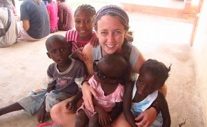 """We are so proud of one of our Alums Frances """"Cookie"""" Harris for her work with the Haiti Children's Rescue Ministry. By helping collect and bring books to hundreds of Haitian children, Cookie is helping improve English literacy Gressier and Respire, Haiti. http://sotm.education.olemiss.edu/frances-cookie-harris-elementary-education/#more-451"""