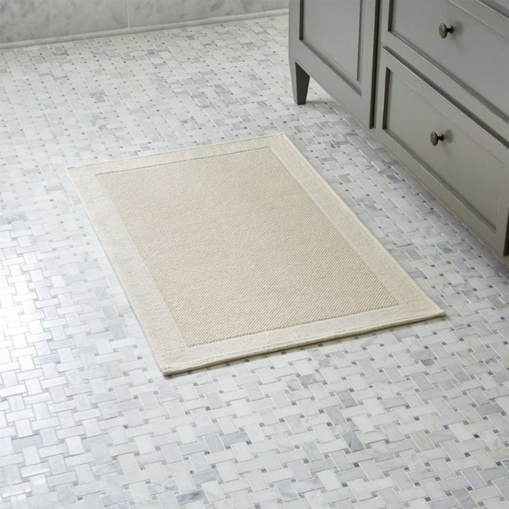 Westport Cream Bath Rug | Crate and Barrel