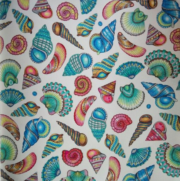 Lost ocean sea shells....if someone ever made fabric out of this, i'd buy it all!