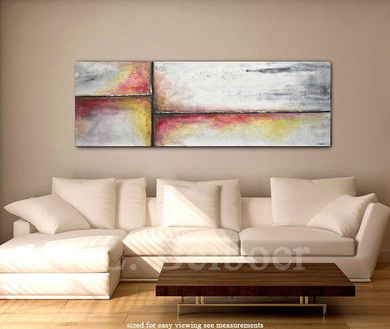 Large abstract painting original panoramic art 5 by RawArtGallery