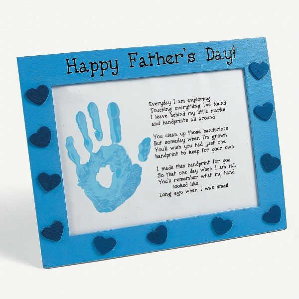 Wooden Father S Day Handprint Frame Craft Kit Novelty Crafts Kits Projects Hobby Supplies Oriental Trading