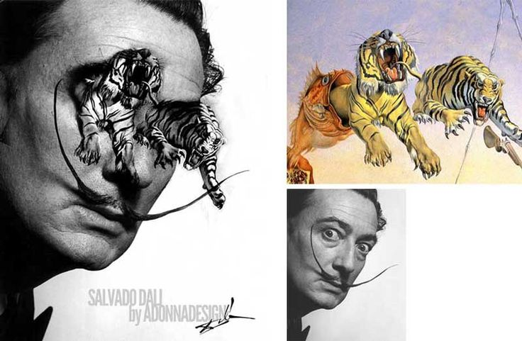 Salvador Dali #fotobewerking #photoart by aDONNAdesign