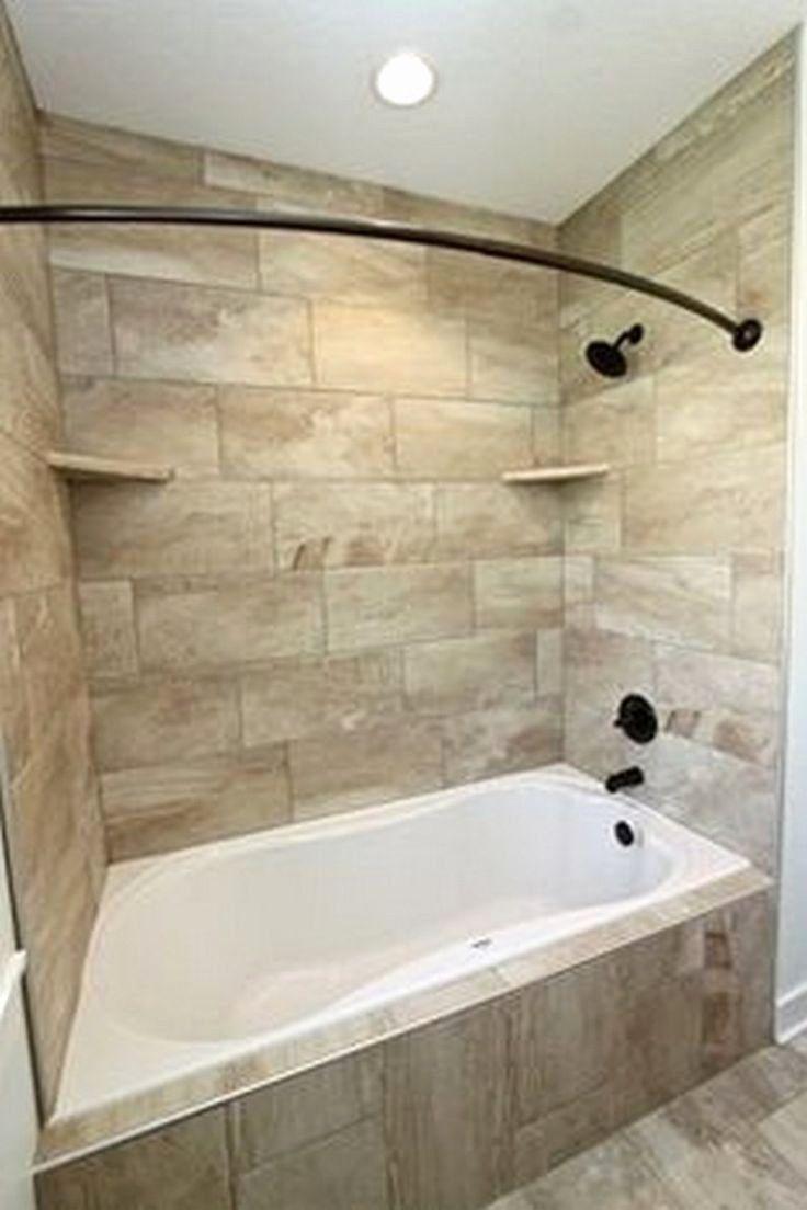 24 Bathroom Tub Shower Ideas In 2020 Bathtub Shower Combo Bathroom Tub Shower Combo Tub Remodel