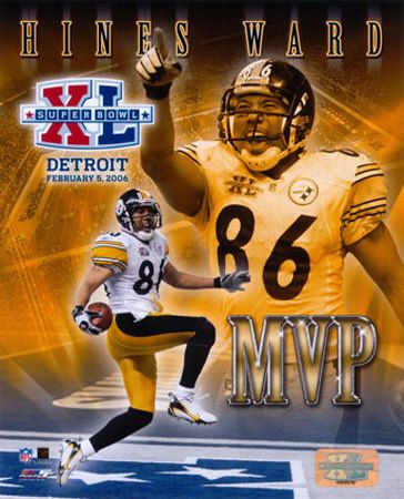 """Hines Ward - MVP of Super Bowl XL as the Steelers finally got that """"one for the thumb"""" in 2006."""