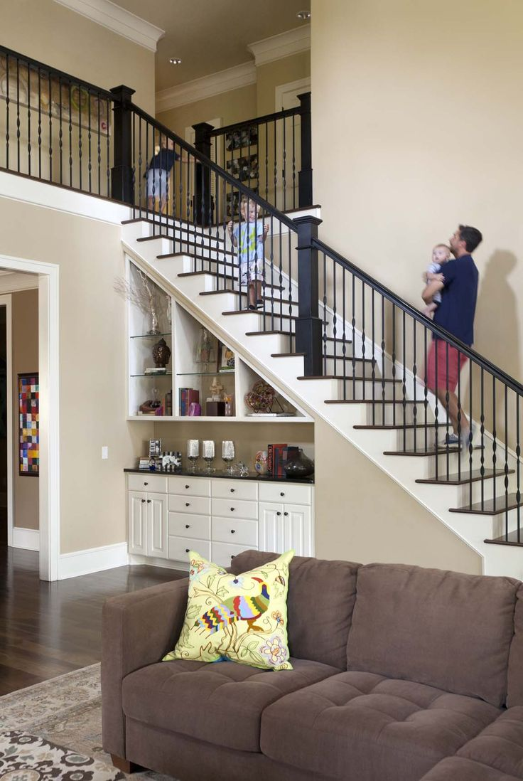 stairs furniture. love this open floorplan efficient use of space under stairwell storage and pretty stairs furniture