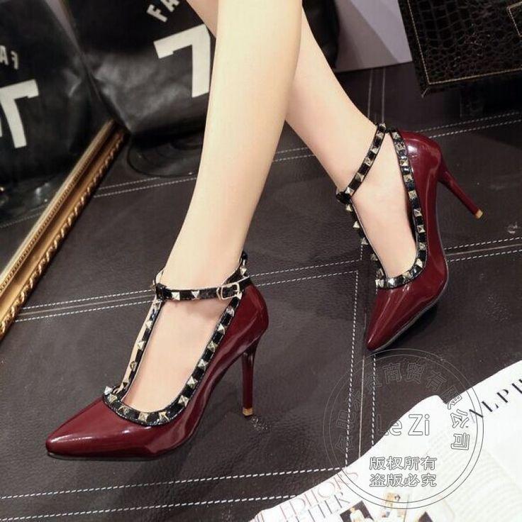 Funky Frauen Schuhe Pumps Frauen Marke Schuhe Wasserdichte Pu T Geformte Wölbung Rutschfeste Täglichen Stiletto Heels Weiche Leder Verzierte //Price: $US $31.04 & FREE Shipping //     #abendkleider