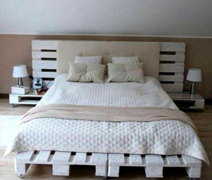 une magnifique idée comment faire un lit en palette, tête de lit palette, design classique