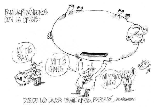 """Acá nuestra caricatura de hoy:  """"Desde los lazos familiares"""""""