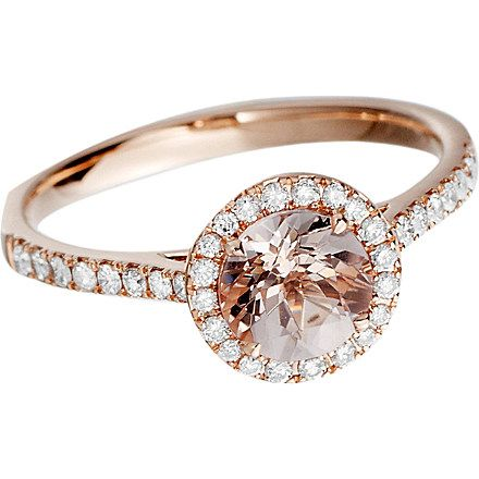 ASTLEY CLARKE Morganite 14ct rose gold ring