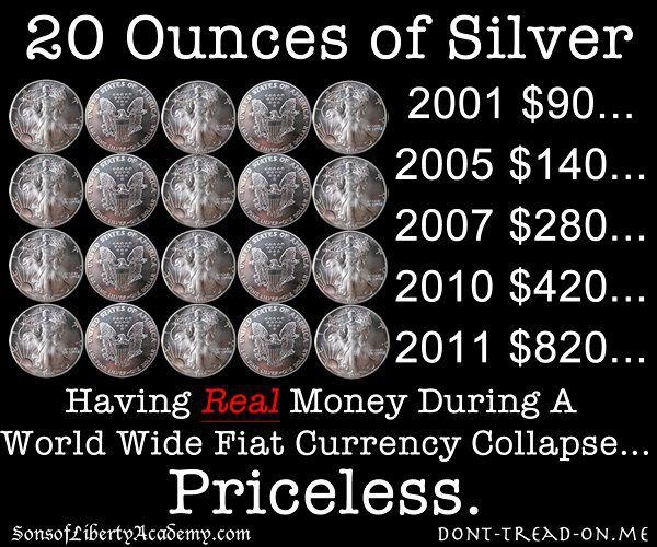 Precious Metals - Silver/Gold Alternatives To Jew Fiat Currency - Protecting Our Wealth 8030f445f03910be3fe9898c9250736a--fiat-money-silver-coins