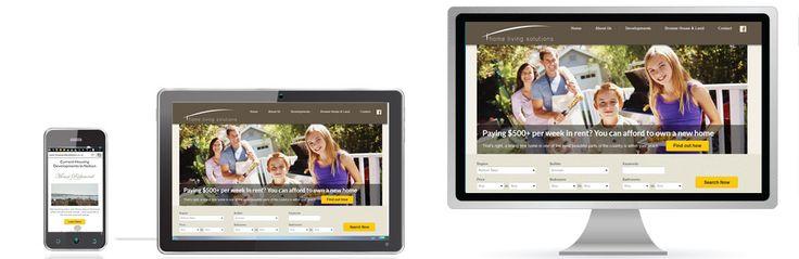 Property Developer website design example.