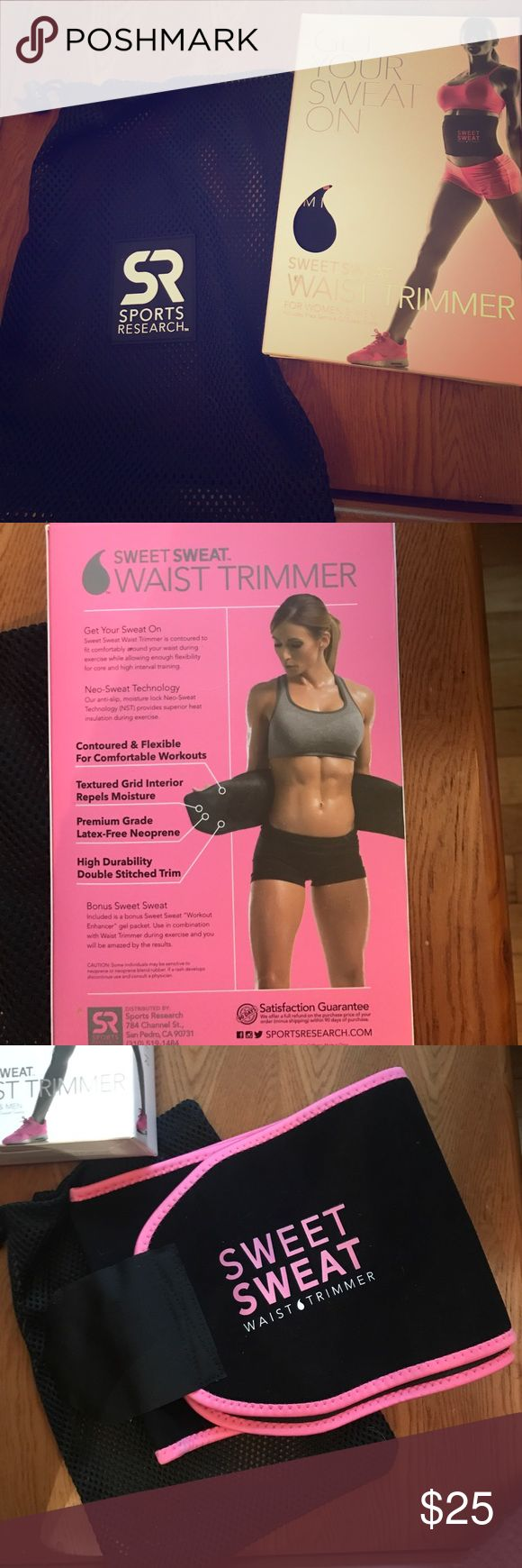 Sweet sweat -pink- waist trimmer Never worn. Bought thinking I would use, and never have. Wash bag included Other