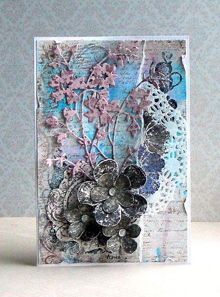 Grunge Collection Card. Stempelglede :: Design Team Blog. 2014 © Elena Smoktunova