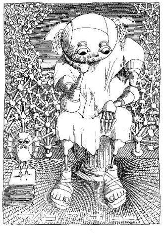 """Daniel Mróz, ilustracja - """"The Cyberiad"""" St.Lem"""